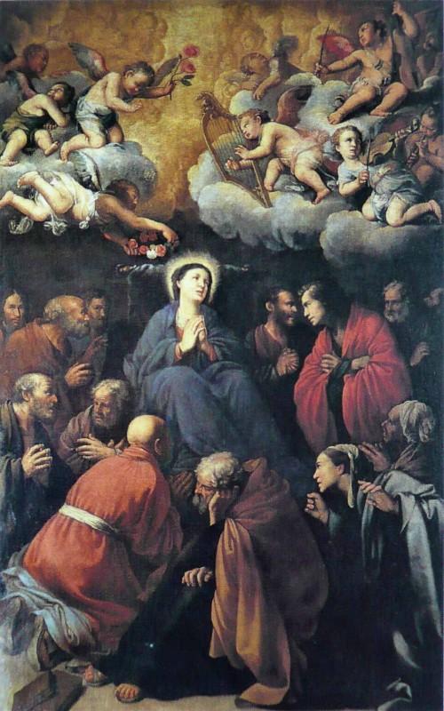 Carlo Saraceni, The Assumption of Our Lady, Church of Santa Maria della Scala, pic. Wikipedia