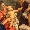 Carlo Saraceni, Our Lady and Child with St. Anne, fragment, Galleria Nazionale d'Arte Antica, Palazzo Barberini
