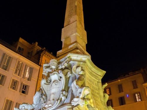 Fontana della Rotonda zwieńczona obeliskiem egipskim
