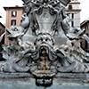 Fontana della Rotonda - człon środkowy powstały na początku XVIII w.