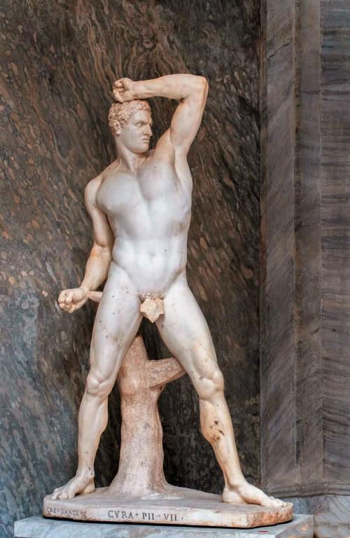 Antonio Canova, bokser Kreugas, Musei Vaticani - Museo Pio-Clementino