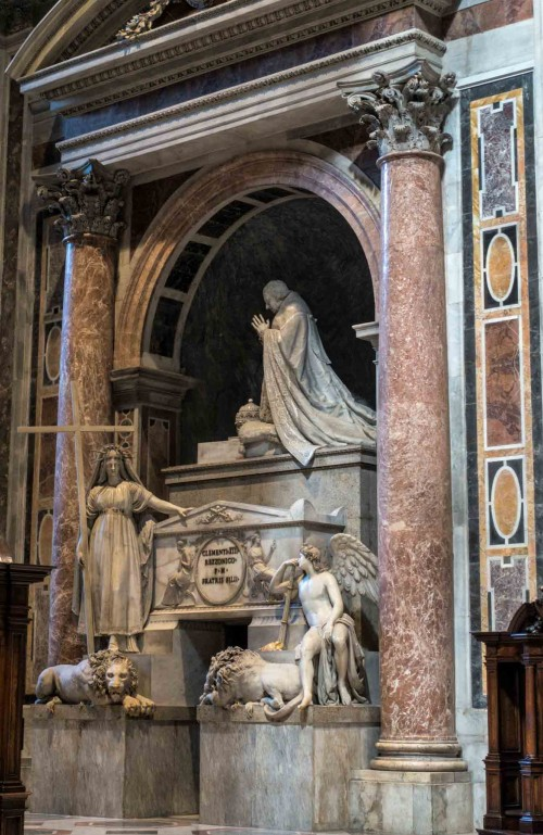 Antonio Canova, nagrobek papieża Klemensa XIII, bazylika San Pietro in Vaticano