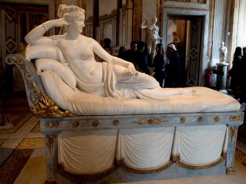 Antonio Canova, Pauline Borghese jako Wenus Zwycięska, Galleria Borghese