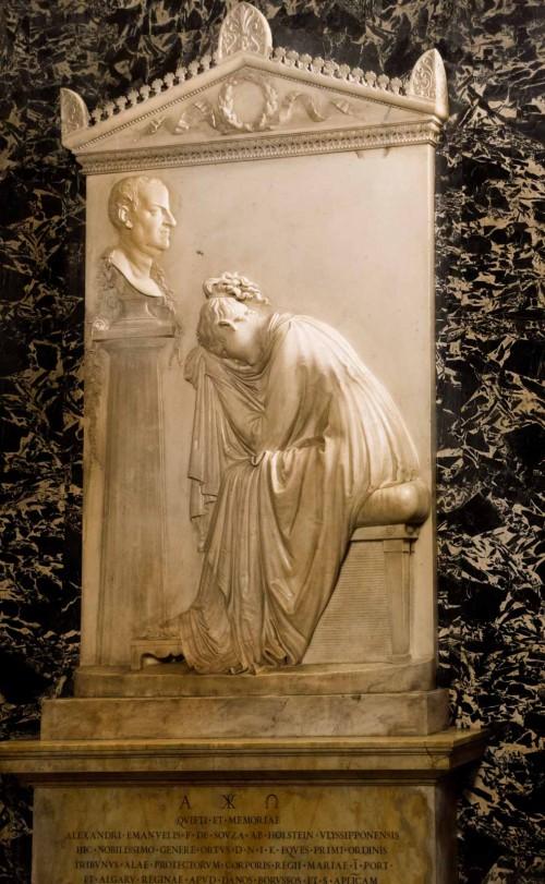 Antonio Canova, tombstone monument of Count Alessandro de Souza Holstein, Church of Sant'Antonio dei Portugesi