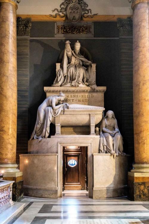 Antonio Canova, tombstone monument of Pope Clement XIV, Basilica of Santi Apostoli
