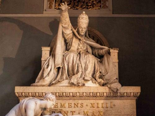 Antonio Canova, tombstone monument of Pope Clement XIV, fragment, Basilica of Santi Apostoli
