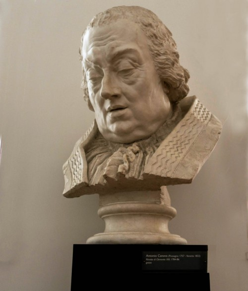 Antonio Canova, bust of Pope Clement XIII, plaster cast, 1786, Accademia Nazionale di San Luca