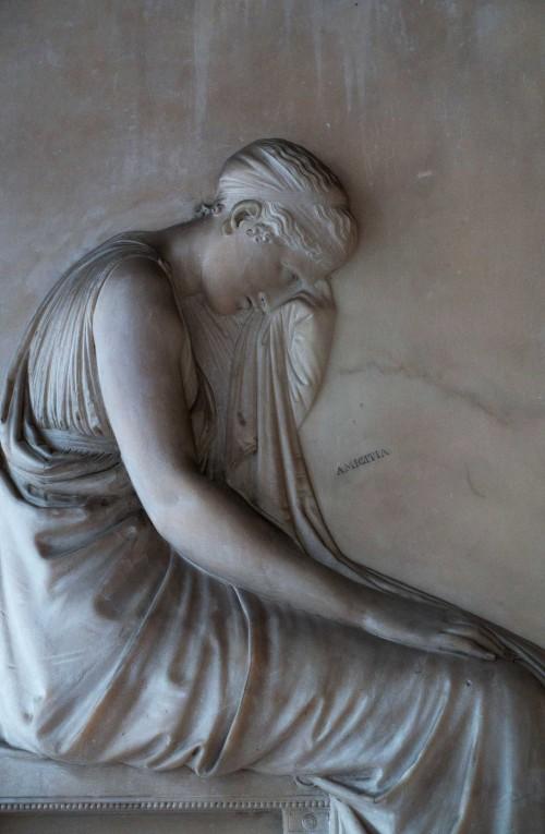 Antonio Canova, tombstone of Giovanni Volpato, fragment Basilica of Santi Apostoli
