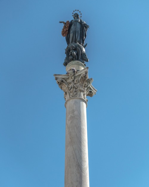 Column of the Immaculate Conception at Piazza di Spagna, figure of the Madonna  - Luigi Poletti