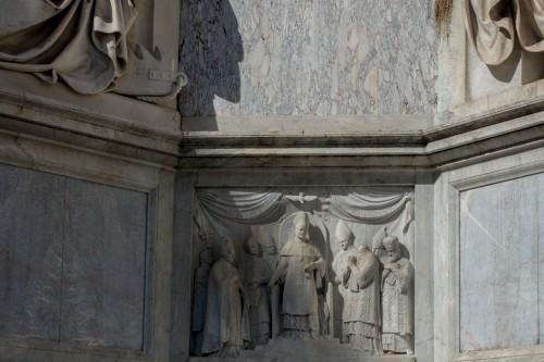 Kolumna Niepokalanego Poczęcia, jedna z płaskorzeźb - Ogłoszenie dogmatu Niepokalenego Poczęcia Marii przez papieża Piusa IX