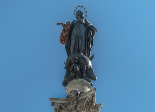 Column of the Immaculate Conception, figure of the Madonna - Luigi Poletti