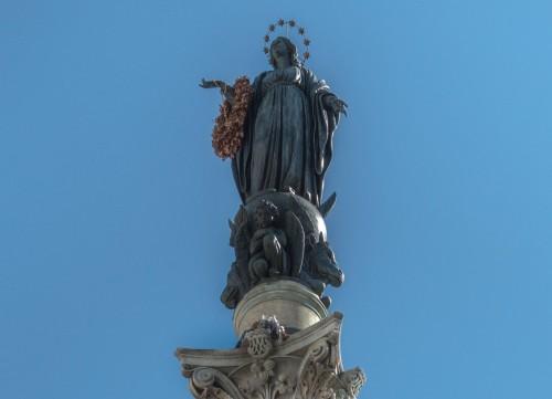 Kolumna Niepokalanego Poczęcia, posąg Madonny - Luigi Poletti