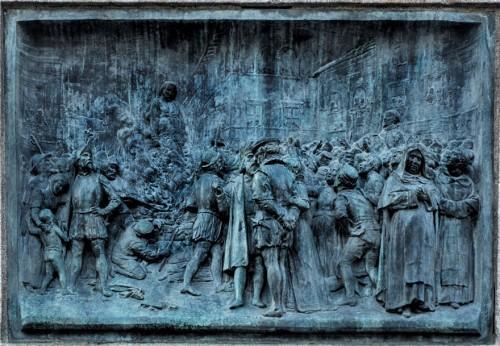 Pomnik Giordana Bruna, Bruno na stosie