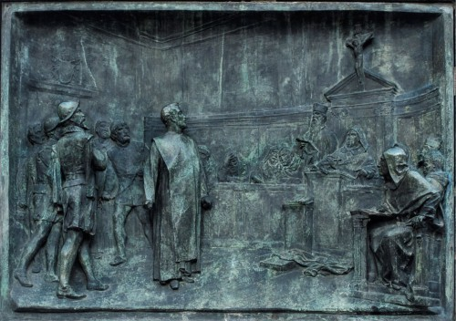 Statue of Giordano Bruno, philosopher in front of the Sacred Roman Inquisition