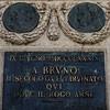 Cokół pomnika Giordana Bruna