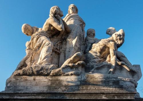 Ponte Vittorio Emanuele II, one of the allegoric groups adorning the bridge
