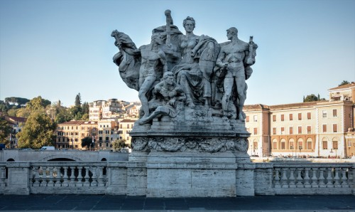 Ponte Vittorio Emanuele II - Political Triumph (Proclamation of a united Italy), Giovanni Nicolini