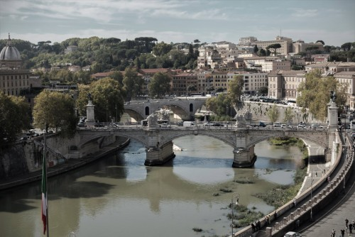 Ponte Vittorio Emanuele II seen from Castle of the Holy Angel