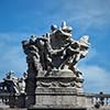 Ponte Vittorio Emanuele II, one of the allegoric groups adorning the bridge seen from the Tiber