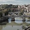 Ponte Vittorio Emanuele II widziany z zamku Świętego Anioła