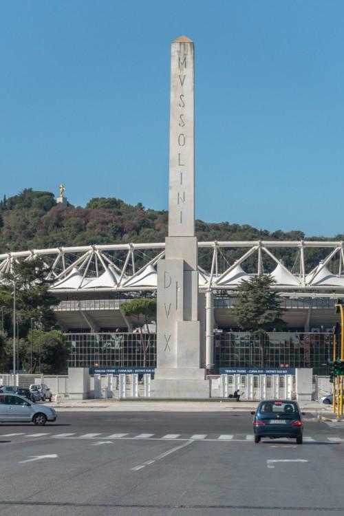 Mussolini Obelisk on Foro Italico (former Foro Mussolini)