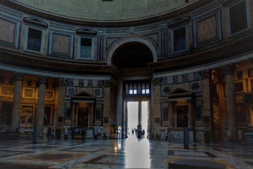 Panteon, wejście do świątyni