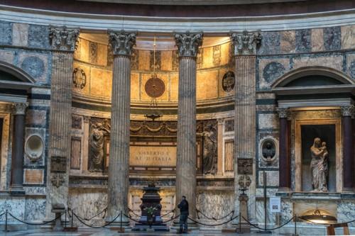 Panteon, wnętrze