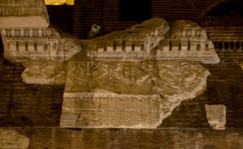 Remains of the decorations of the Basilica of Neptune