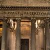 Panteon, otwarta więźba portyku świątyni