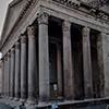 Panteon - widok przedsionka świątyni