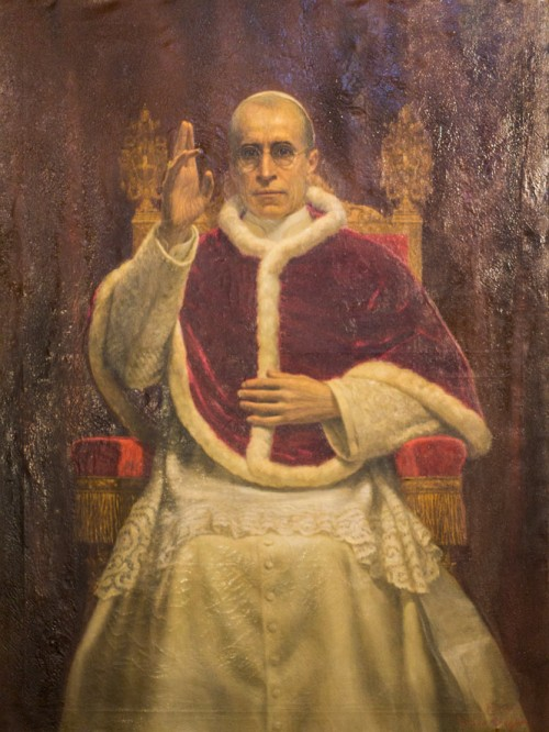 Pius XII, Pius XII, painting in the Basilica of Santa Maria sopra Minerva