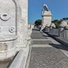 Ponte Flaminio, fontanny zdobiące most