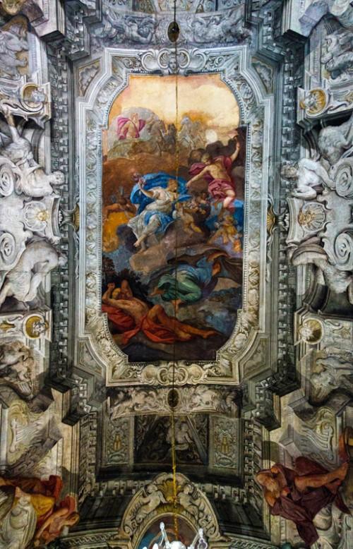 Armando Brasini, Villa Brasini, dekoracja salonu na parterze