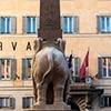 Obelisk Minerveo zadedykowany papieżowi Aleksandrowi VII