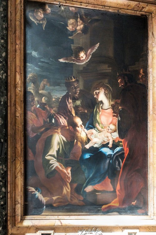 Church of Sant'Andera al Quirinale, The Chapel of Our Lady, The Adoration of Our Lady by the Magi, Antonio David