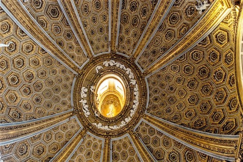 Church of Sant'Andrea al Quirinale, bowl of the dome with a lantern and dove at the summit