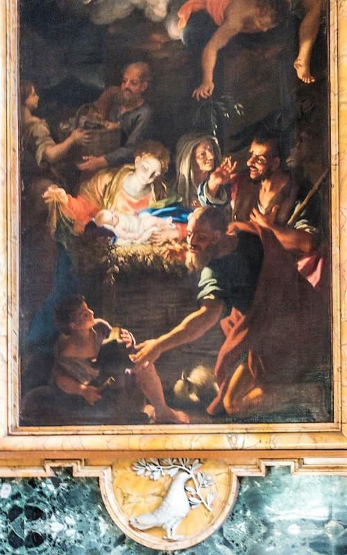 Sant'Andrea al Quirinale, kaplica Matki Boskiej, Adoracja Madonny przez pasterzy, Antonio David