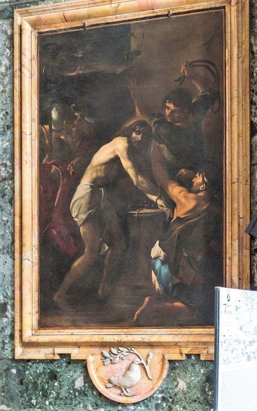 Church of Sant'Andrea al Quirinale, Chapel of the Pieta,The Flagellation, Giacinto Brandi