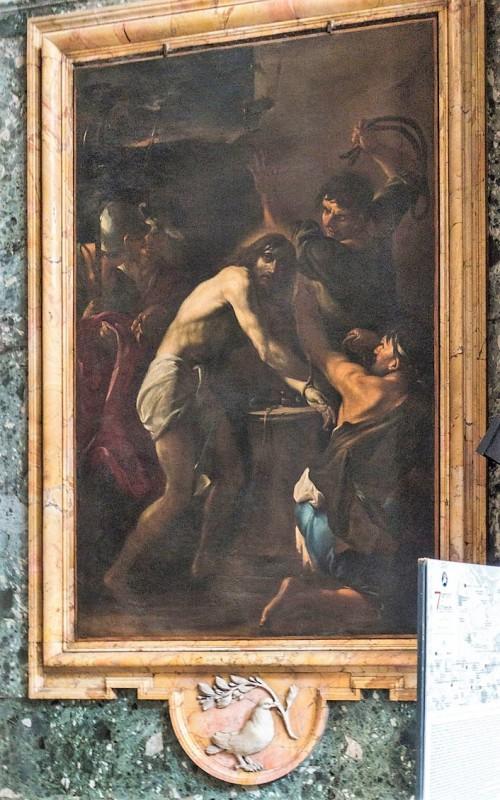 Sant'Andrea al Quirinale, kaplica Męki Pańskiej, Biczowanie, Giacinto Brandi