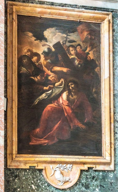 Church of Sant'Andrea al Quirinale, Chapel of the Pieta, Fall under the cross, Giacinto Brandi