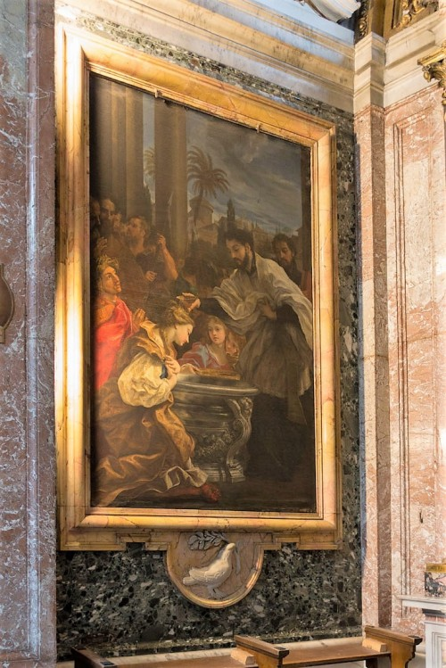 Church of Sant'Andrea al Quirinale, Chapel of St. Francis Xavier, The Baptism of a Pagan Queen, Baciccio