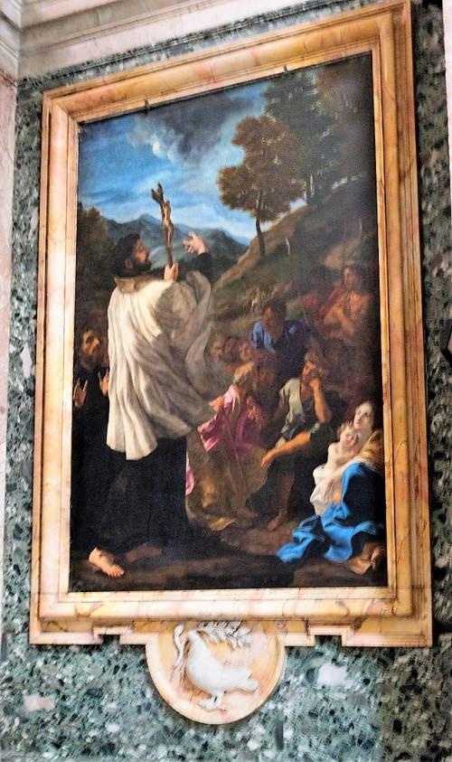 Sant'Andrea al Quirinale, kaplica św. Franciszka Ksawerego, Kazanie św. Franciszka Ksawerego, Baciccio