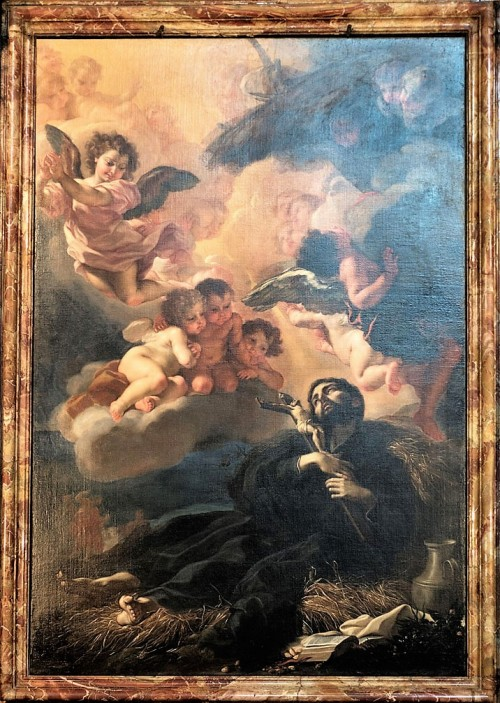 Church of Sant'Andrea al Quirinale, Chapel of St. Francis Xavier, The Death of Francis Xavier, Baciccio
