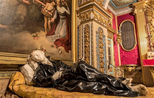 Church of Sant'Andrea al Quirinale, The Chapel of St. Stanislaus Kostka, statue of the saint, Pierre Legros
