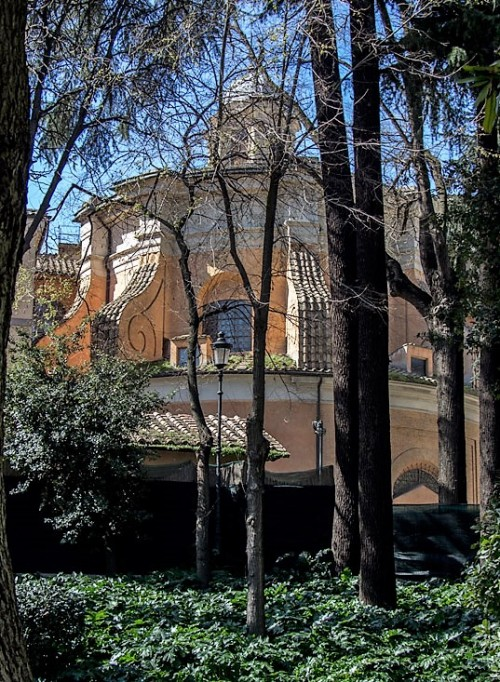 Church of Sant'Andrea al Quirinale, church seen from the rear