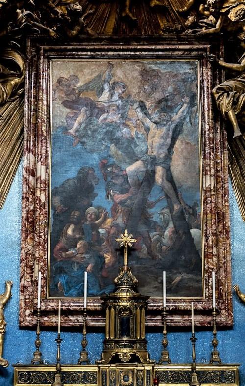 Sant'Andrea al Quirinale, Męczeństwo św. Andrzeja, Il Borgognone