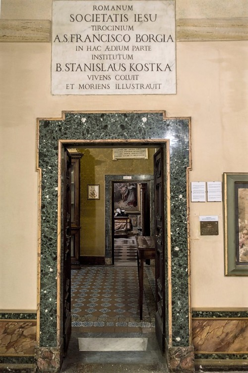 Church of Sant'Andrea al Quirinale, enterance into the rooms connected with St. Stanislaus Kostka