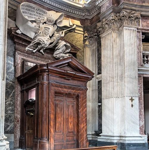 Sant'Andrea al Quirinale, wejście główne