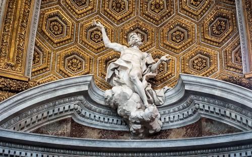 Sant'Andrea al Quirinale, Wniebowzięcie św. Andrzeja, Antonio Raggi