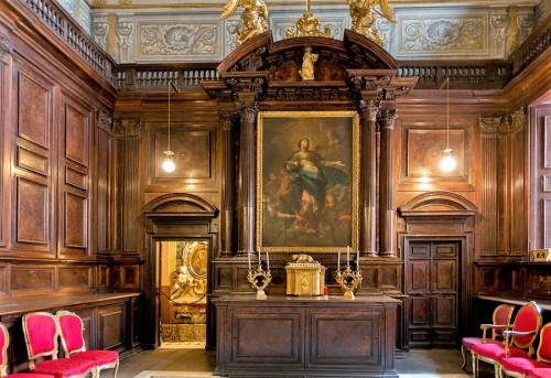 Sant'Andrea al Quirinale, zakrystia, w ołtarzu Niepokalane Poczęcie Marii, Andrea Pozzo